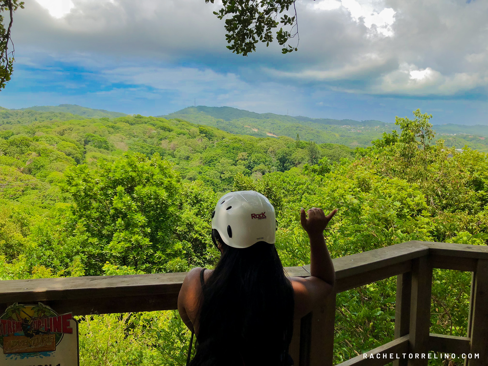 Rachel Torrelino in Roatan Honduras