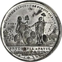 1783 Treaty of Paris Medal reverse