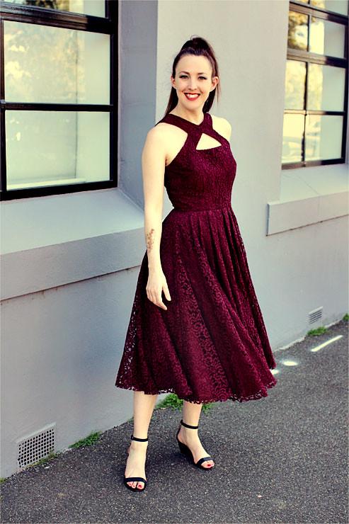 Wine Dress #8