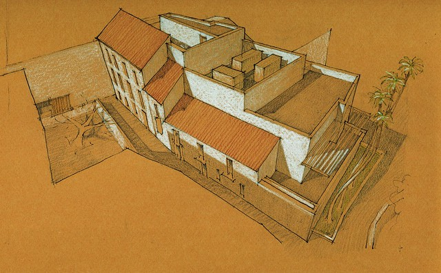Design proposal for the service wing, Museo Picasso Málaga
