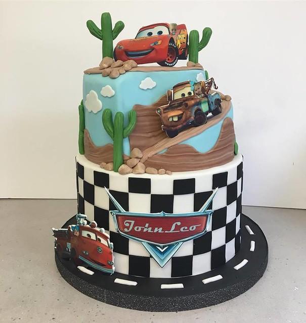 Disney Cars Themed Birthday Cake by Cupcakes Plus