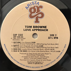 TOM BROWNE:LOVE APPROACH(LABEL SIDE-B)