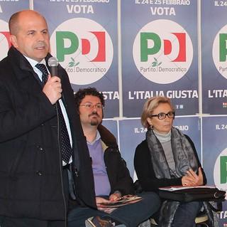Tina Lofano, l'assessore Scagliusi e il sindaco Vitto