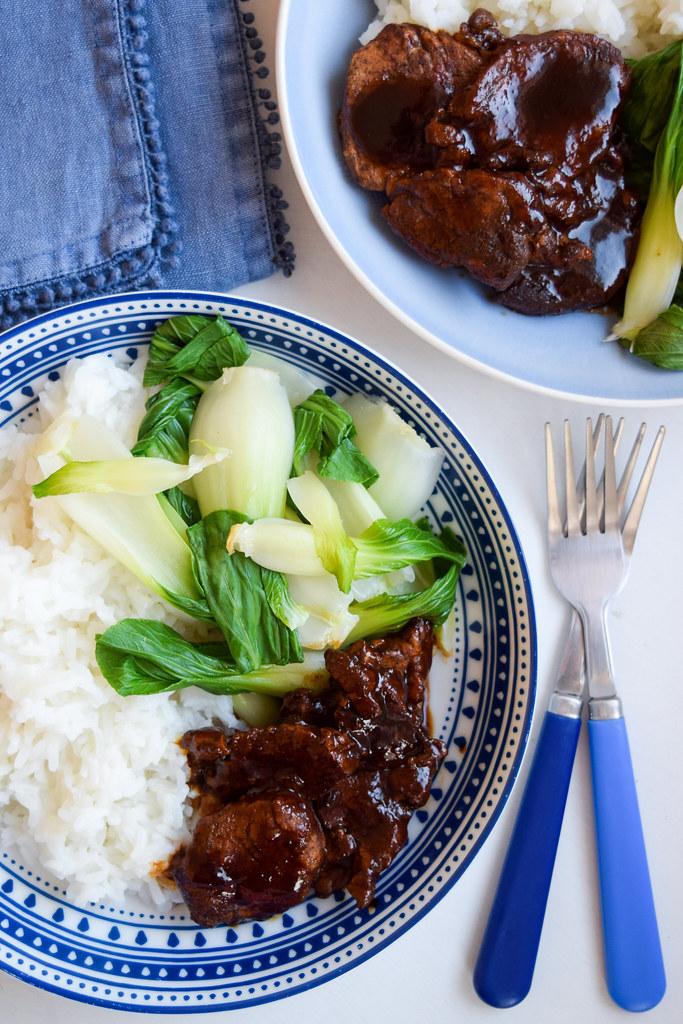 15 Minute 5 Spice Pork with Pak Choi & Jasmine Rice