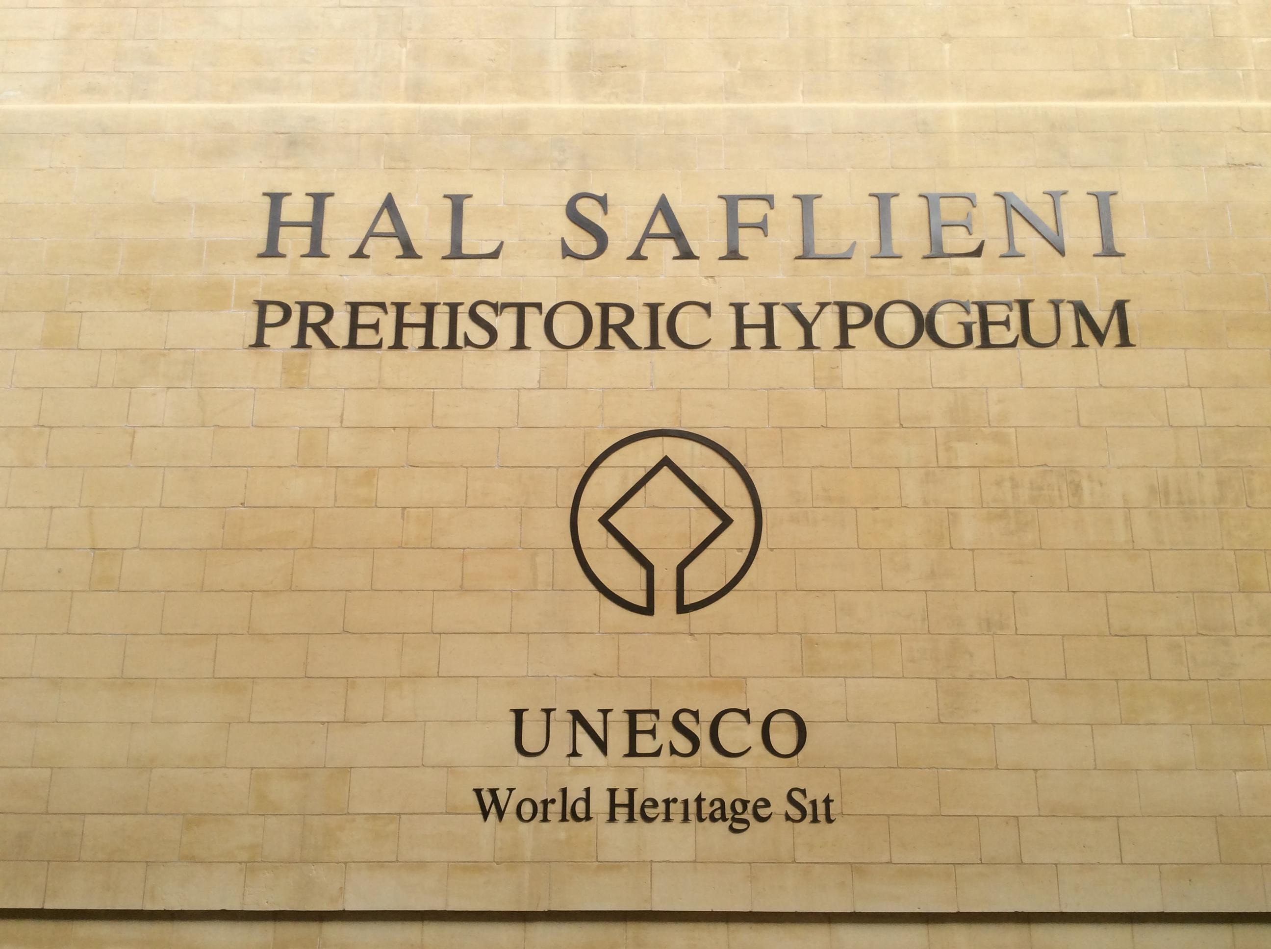 Ħal-Saflieni Museum façade after restoration. Photo taken on March 25, 2017.