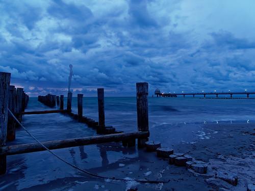 Blaue Stunde am Strand von Zingst
