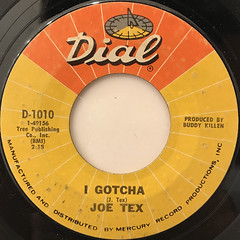 JOE TEX:I GOTCHA(LABEL SIDE-A)
