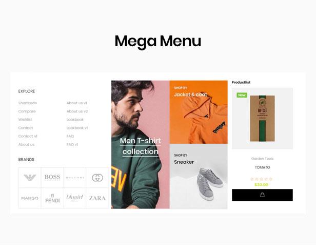 shopify theme minimal - muti-megamenu