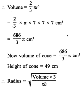 Surface Areas and Volume of a Sphere With Solutions PDF RD Sharma Class 9 Solutions