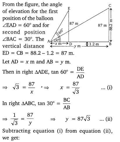 NCERT Solutions for Class 10 Maths Chapter 9 Some Applications of Trigonometry 22