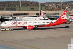 Air Berlin (Opf Belair) A321-211 HB-JOX pushing back at ZRH/LSZH