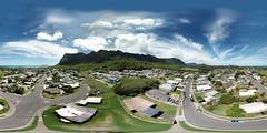 Waimanalo from 114 feet - an aerial 360° Equirectangular VR