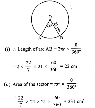 RD Sharma 10 Class Solutions Chapter 15 Areas related to Circles