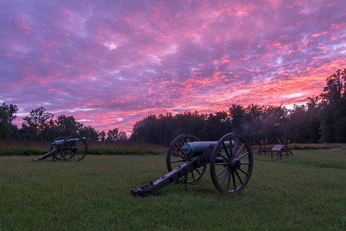 Fire in the Sky Over the Gaines' Mill Battlefield