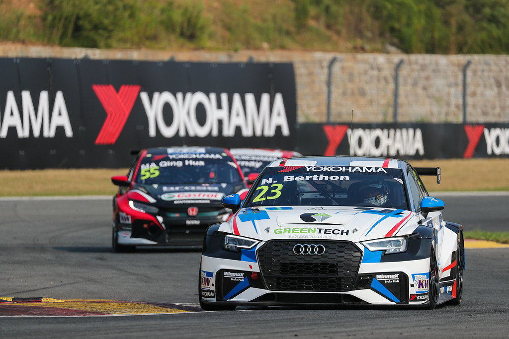 23 BERTHON Nathanael, (fra), Audi RS3 LMS TCR team Comtoyou Racing, action during the 2018 FIA WTCR World Touring Car cup of China, at Ningbo  from September 28 to 30 - Photo Marc de Mattia / DPPI