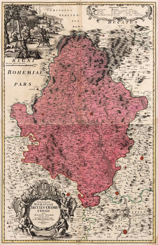 Johann Baptist Homann - Circuli Olomucensis (1716)