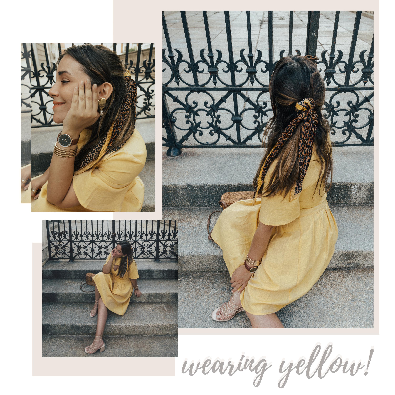 vestido amarillo asos outfit