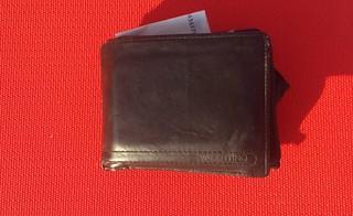 Il portafogli restituito