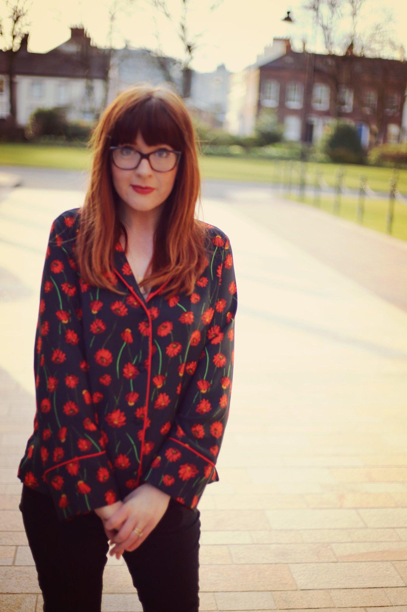 floral pajama top