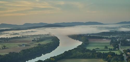 landscape sony sonya7ii fog foggy reflection river