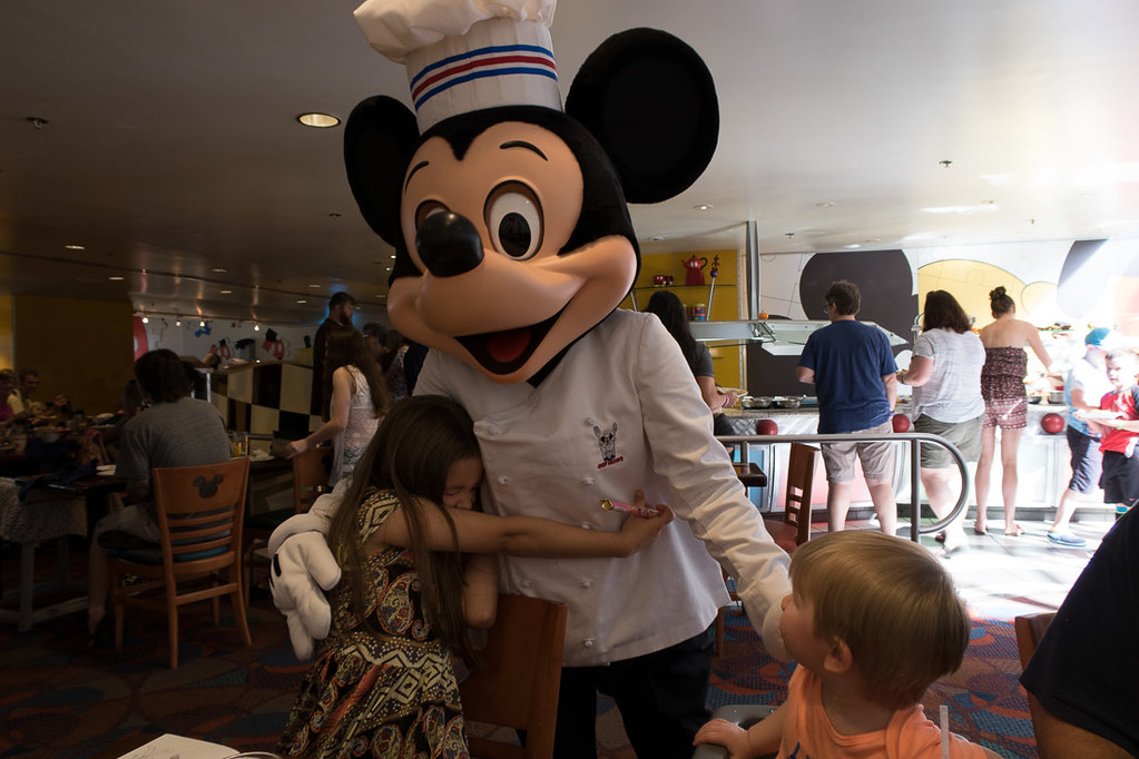 Mickey visits at Chef Mickey's