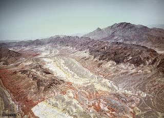 The barren Nevada desert near Las Vegas. Original image from Carol M. Highsmith's America, Library of Congress collection. Digitally enhanced by rawpixel.