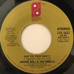 ARCHIE BELL & THE DRELLS:GLAD YOU COULD MAKE IT(LABEL SIDE-A)