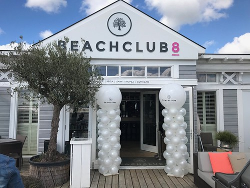 Ballonpilaar Breed Rond Bedrukt Barefoot Friday Beachub8 Rockanje