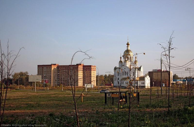 Ступино. Строящаяся церковь Всех Святых, в земле Российской просиявших.