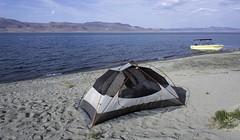 Camping at Lake pyramid Nevada