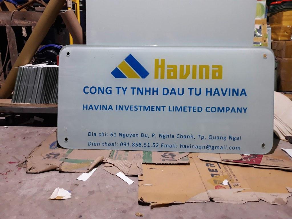 Bảng hiệu in logo công ty TNHH Havina - Quảng Ngãi