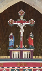 rood screen: Blessed Virgin and St John at the foot of the cross
