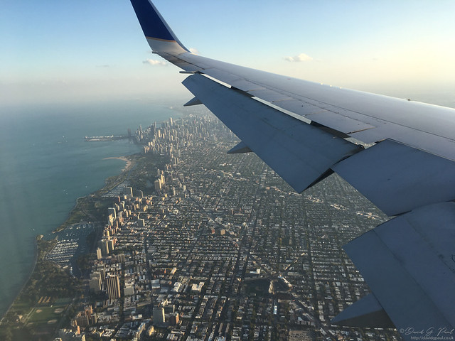 Flying in to Chicago