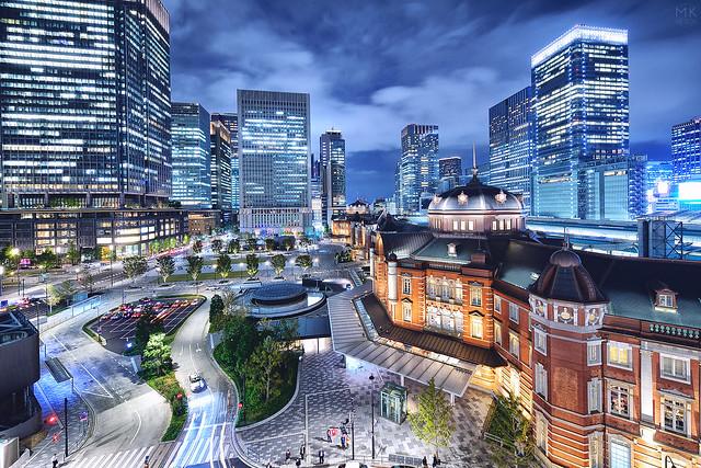 東京駅的夜想台灣的街