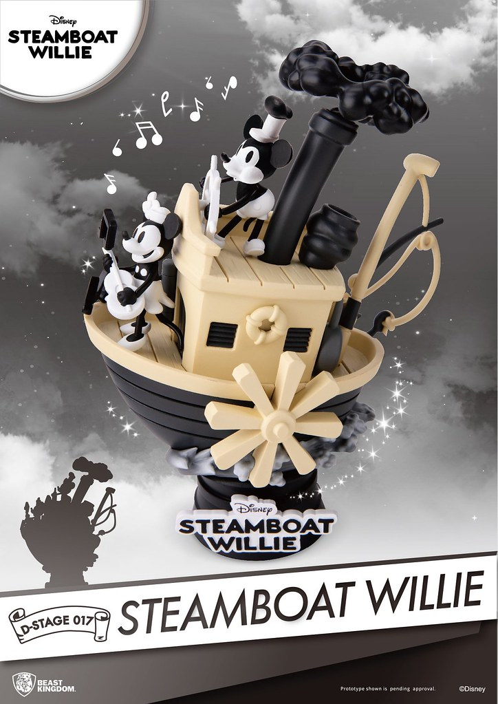 Let the Cute Steamboat Take You on a Ride! Beast Kingdom Steamboat Willie D-Stage-017