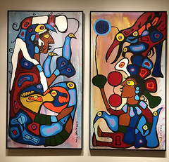 The Storyteller, the Artist and His Grandfather by Norval Morrisseau