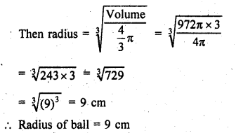RD Sharma Class 9 Book Chapter 21 Surface Areas and Volume of a Sphere