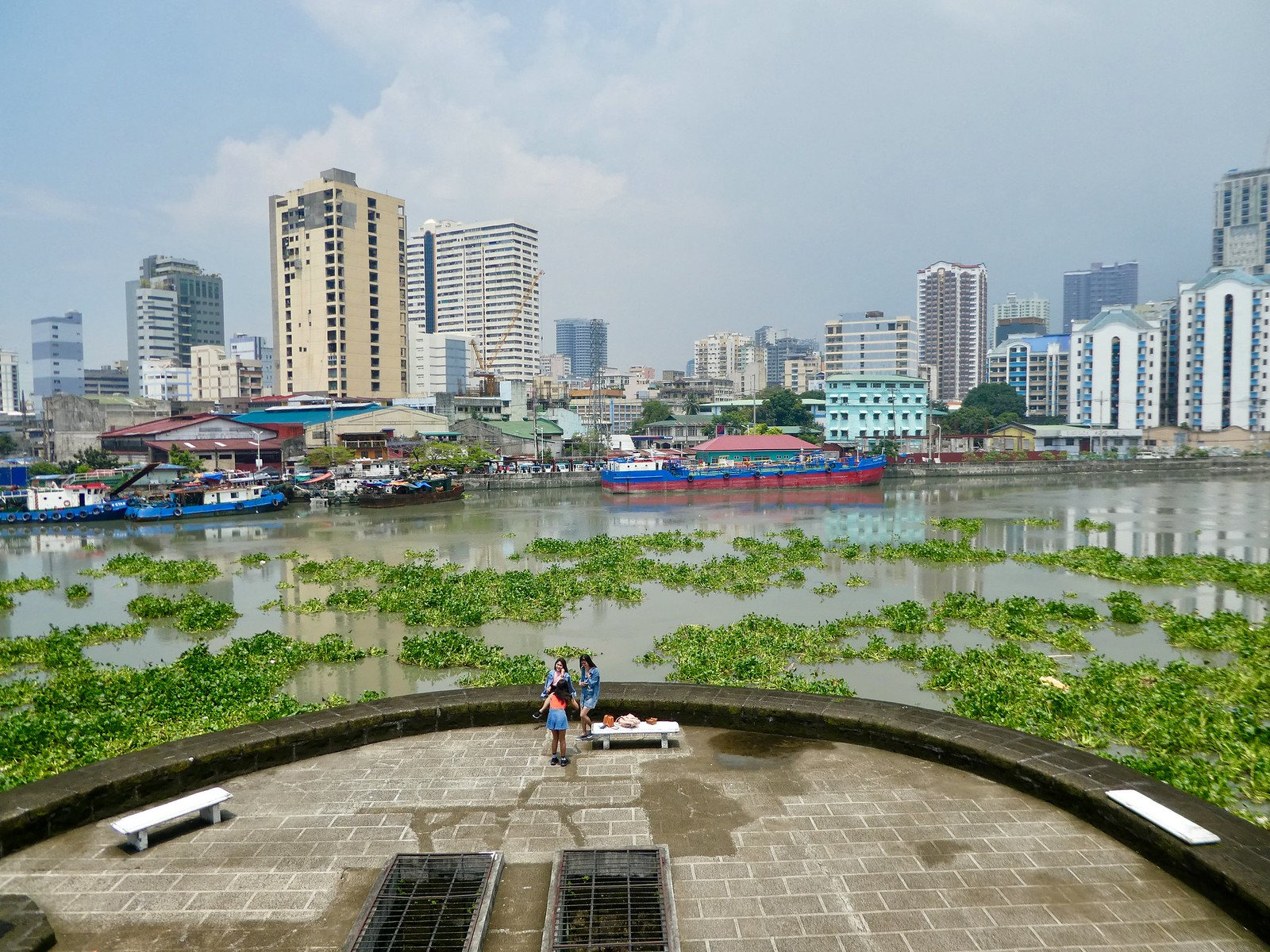 View from walls of Fort Santiago, Intramuros, Manila