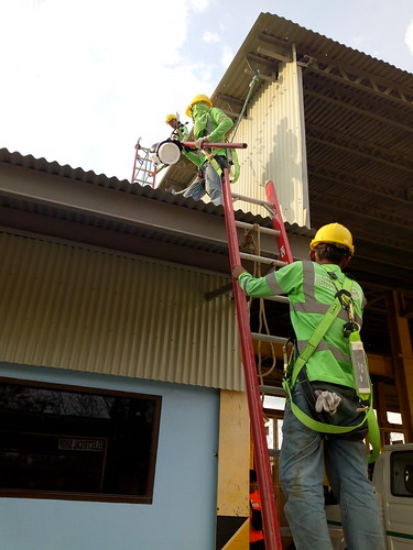 installing weather station on the roof