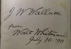 Penn Libraries 811W 1872.2: Inscription