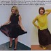 Holly Willoughby & I Wearing Burgundy Pleated Midi Skirts.