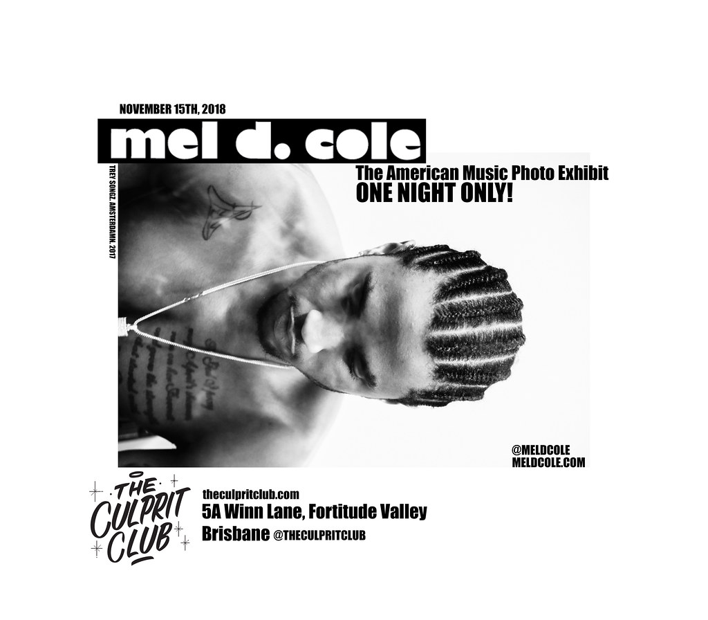Mel D. Cole Brisbane exhibtion 2018 final flyer