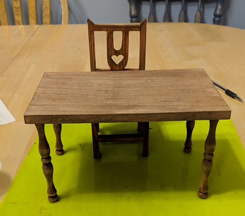 table and chair finished