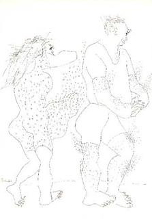 dessins de la relation homme-femme et de l'amour dessin homme femme esquisse art encre sur papier de peintre israélien raphael perez