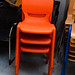 Stackable chair orange