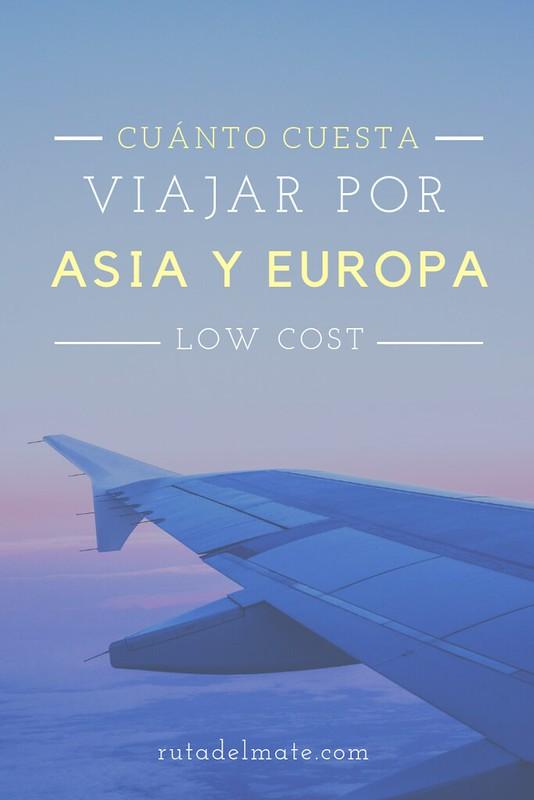 Cuanto cuesta viajar por asia y europa