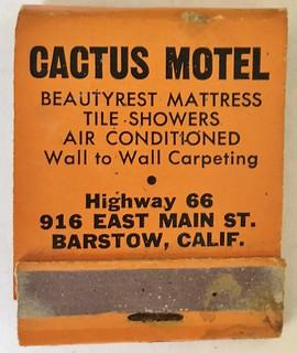 CACTUS MOTEL BARSTOW CALIF