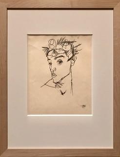 Autoportrait, 1913, Egon Schiele