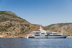 Yacht Hydra island, Greece