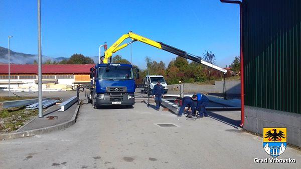 Radovi na dovršenju pretovarne stanice, 05.10.2018. godine